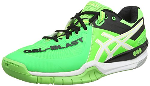 ASICS Gel-Blast 6, Herren Outdoor Fitnessschuhe, Grün (Dark Green/Flash Orange/Black 8030), 44 EU