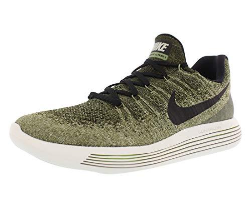 Nike Men's Lunarepic Low Flyknit 2 Running Shoe (13, Rough Green/Black-Palm Green)