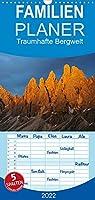 Traumhafte Bergwelt Kalender - Familienplaner hoch (Wandkalender 2022 , 21 cm x 45 cm, hoch): Im Zauber des Lichts (Monatskalender, 14 Seiten )