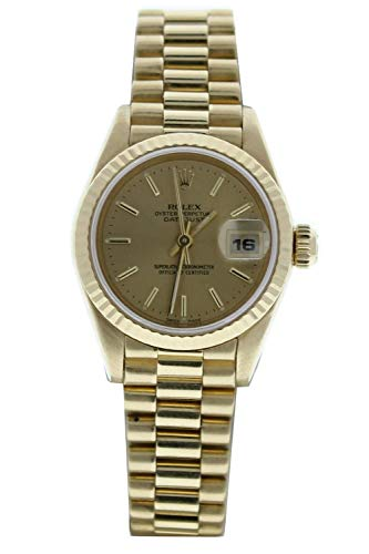 Rolex-Ladys-President-69178-18k-Gold-Watch-Champagne-Stick-Dial-Certified-Preowned