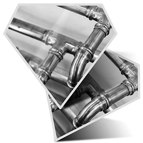 Impresionante pegatinas de diamante de 7,5 cm BW – Pipas de cobre para calefacción de fontanero calcomanías divertidas para computadoras portátiles, tabletas, equipaje, libros de chatarra, frigorífico, regalo genial #42734