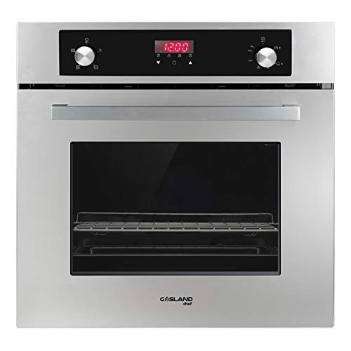 GASLAND Chef 24' Built-in 6 Cooking Function Single Wall Gas Oven, Mechanical Knob + Touch Control Digital Gas Wall Oven