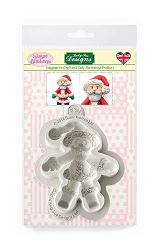 Katy Sue Designs Père Noël moule en silicone pour la décoration de gâteau, Cupcakes, Sugarcraft, bonbons et argile, sécurité alimentaire