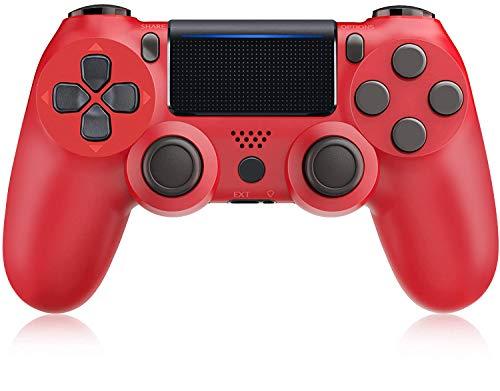 Mando PS4, Mando inalámbrico Gamepad para Playstation 4 / Pro/Slim con función de Audio, Vibración Dual, Panel táctil, Joystick de Alta precisión