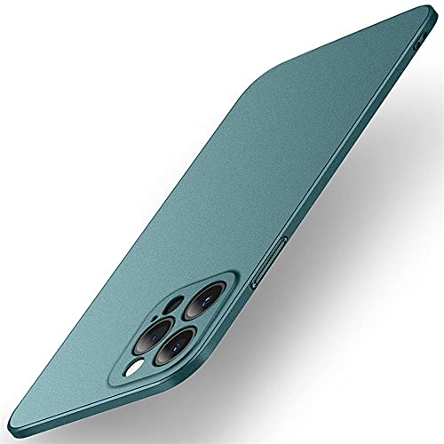 Funda para iPhone 13 Pro Max, ultrafina, resistente a los golpes, carcasa dura, mate, antideslizante, antigolpes, para iPhone 13 Pro Max, color verde oscuro