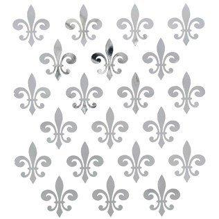 Silver Foil Fleur-de-Lis Stickers