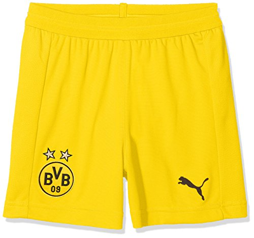 PUMA Hose BVB Shorts Replica Jr mit innerslip, Cyber Yellow, 176, 753329