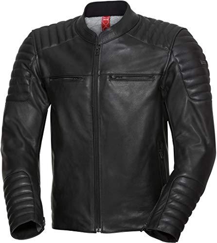 IXS Classic LD Dark - Chaqueta de piel para moto, color negro, talla 54