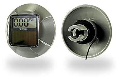 TRiB airCap HR Pressure Gauge for Inflatable SUP, Rib Boat, Kayak, Raft, for Halkey Roberts, Summit 2 and Other Inflation Valves
