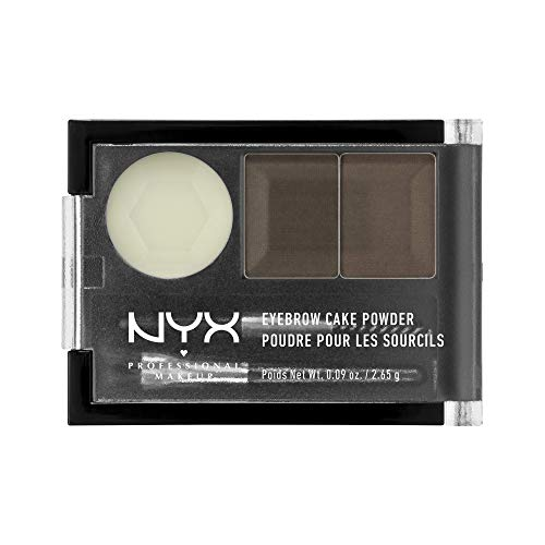 NYX PROFESSIONAL MAKEUP Eyebrow Cake Powder, Dark Brown/Brown
