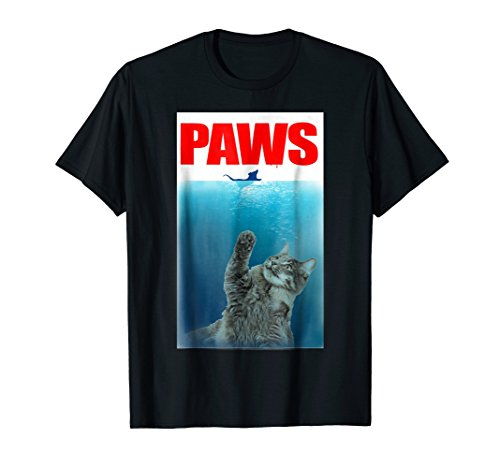 Paws Cat and Mouse T-Shirt Cute Funny Cat Lover