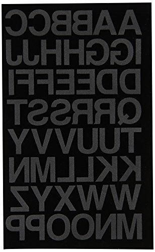 Dritz BL100HBK Bügelbuchstaben Soft Flock, Block, 2,5 cm, Schwarz