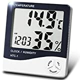 デジタル 温湿度計 卓上 壁掛け 温度計 湿度計 時計 アラーム カレンダー 大画面 乾燥対策 簡単操作
