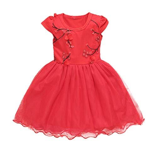 Baywell Baywell Baby Mädchen Sommer Kleid Blumenmuster Kleid ärmelloses Baumwollkleid Kinder Kleinkind Kleid Prinzessin Kleider
