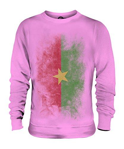 Candymix Burkina Faso Drapeau Dégradé Unisexe Sweat-Shirt Homme Femme, Taille 2X-Large, Couleur Rose