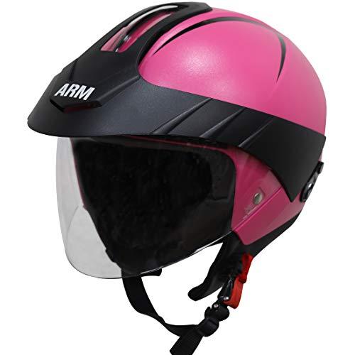 Steelbird SB-33 ARM 7Wings Open Face Helmet with Peak Cap (Large 600...
