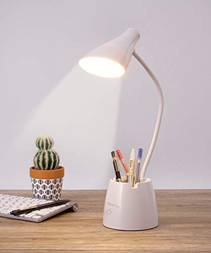 Desk Lamp, LED Desk Light with 3 Color Modes, Eye Protection Dimmable Desk Lamp with Pen Holder and...