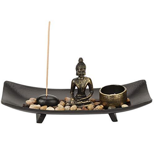 Nannigr Portaincenso, 1 Set di Articoli per l'arredamento candelabro Buddha per Regalo