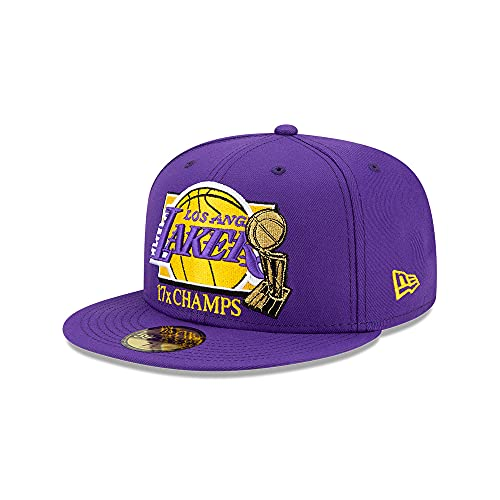 New Era - NBA Los Angeles Lakers 2020 Multi Champs 59Fifty Fitted Cap - Viola viola. 7 3/8 (58,7 cm)