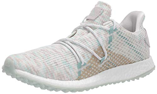 adidas Women's W Crossknit DPR Golf Shoe, Crystal White/Green Tint/Chalk White, 9 Medium US