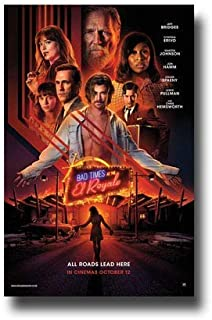 By Be the Bestest Bad Times at The El Royale Poster Movie Promo Poster 12 x 18 Inch Poster Rolled