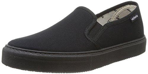 Calego Slip On Lona Piso - Zapatos Unisex adulto, Negro (negro), 36