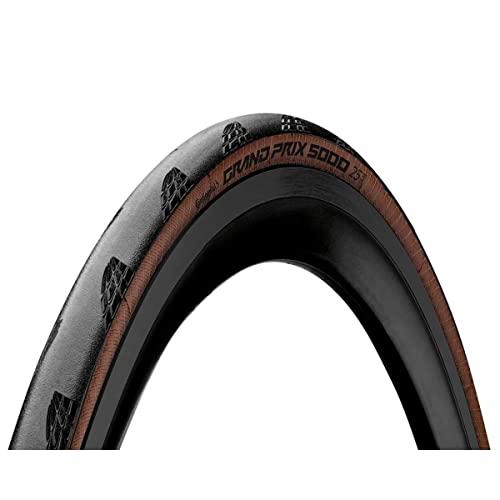 Continental Grand Prix 5000, Pneumatici per Bicicletta Unisex Adulto, Nero/Trasparente, 25-622