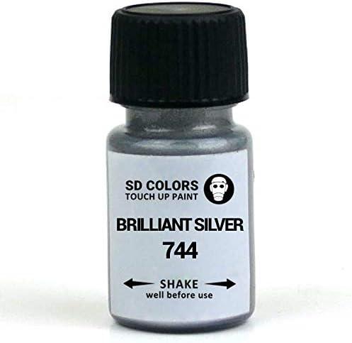 Sd Colors Brilliant Silver 744 Ausbesserungslack 8 Ml Reparatur Pinsel Farbcode 744 Brilliant Silver Just Paint Auto