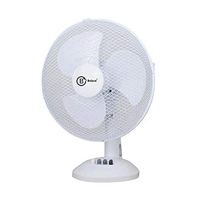 Belaco 9inch Table Fan Desk Fan with 3 Speed Oscillating Stand Fan Low Noise Strong Resistant Base BLTF25