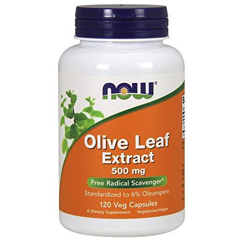 Now Foods, Olivenblatt Extrakt (Olive Leaf Extract), 500mg, 120 vegetarische Kapseln
