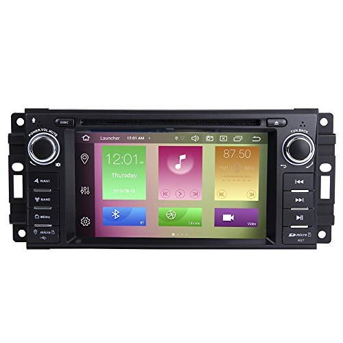 BOOYES Für Jeep Wrangler JK Dodge Ram Herausforderer Chrysler Android 10.0 Octa Core 4 GB RAM 64 GB ROM 6,2