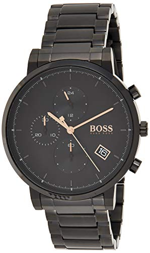 Hugo Boss Herren Analog Quarz Uhr mit Edelstahl Armband 1513780