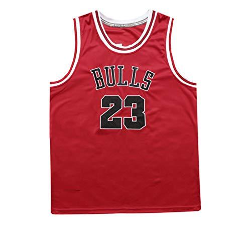 QQJL Bulls No. 23 Trikot Klassische atmungsaktive feuchtigkeitsableitende Sportbasketballuniform (XS-XXL)