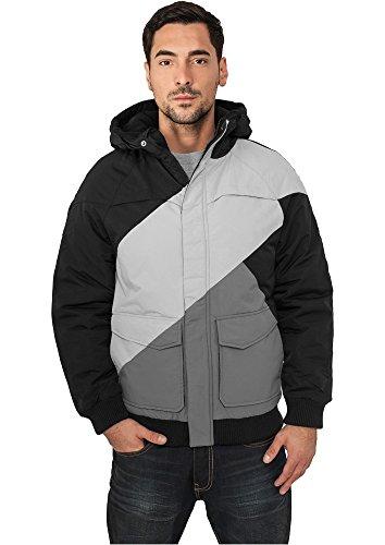 TB435 Zig Zag Fastlane Jacket Herren Winter Jacke Kapuze, Größe:M;Farbe:blkgrygry