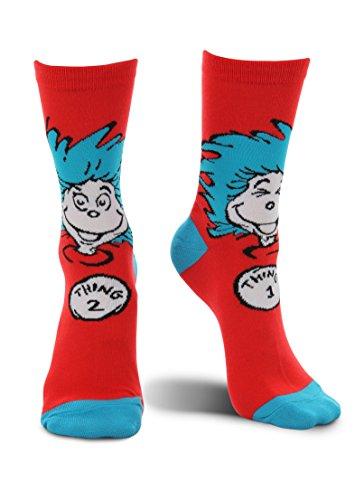 Dr. Seuss Thing 1 & Thing 2 Crew Socks