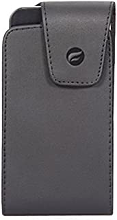 Black Leather Side Case Compatible with GreatCall Jitterbug Smart2 - HTC Desire 816 - Huawei SnapTo, Raven, Mate SE S 9 10 Pro, Honor 7X 6X, Ascend Mate 7 G7 - Kyocera DuraForce Pro