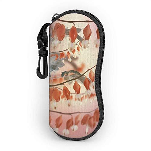 Sonnenbrille Brillenetui Ein Lotus ist eine Pfingstrose Tasche Kratzfest staubsichere Brillenbox mit Gürtelclip für Schlüssel, Bleistifte, Karten