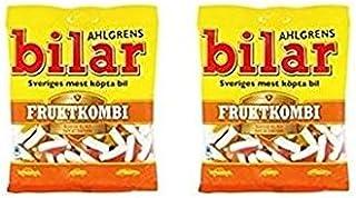 Ahlgrens Bilar Fruity Candy Cars FRUKTKOMBI 4.4oz bag (Pack of 2)