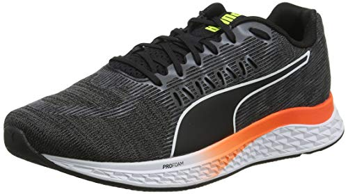 PUMA Speed SUTAMINA, Zapatillas de Running Unisex-Adulto, Black-Castlerock-Yellow Alert-Nrgy Red, 40 EU