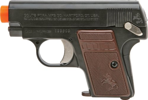 Colt .25 Spring Powered Airsoft Pistol with Hop-Up, 150 FPS (Pack of 2), Multi-Color (18184)