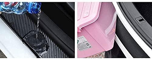 MFQO Protector De Parachoques Trasero De Coche, para Hyundai Solaris, Maletero, Fibra De Carbono, Umbral, Logotipo, Pegatina Antiarañazos, Accesorios