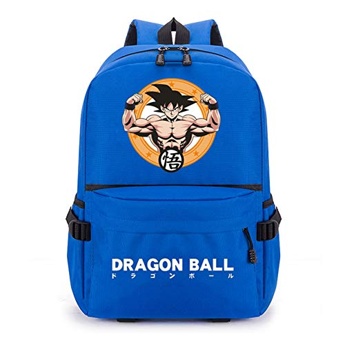 Csqw Anime Cosplay Backpack Sac d'école Rucksack Étudiant Sac à Dos Tissu Oxford Dragon Ball Goku Imperméable