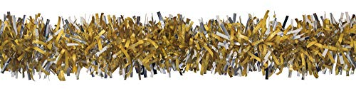 CC Home Furnishings 25' Gold and Silver Embossed Contemporary Decorative Party Twist Garland