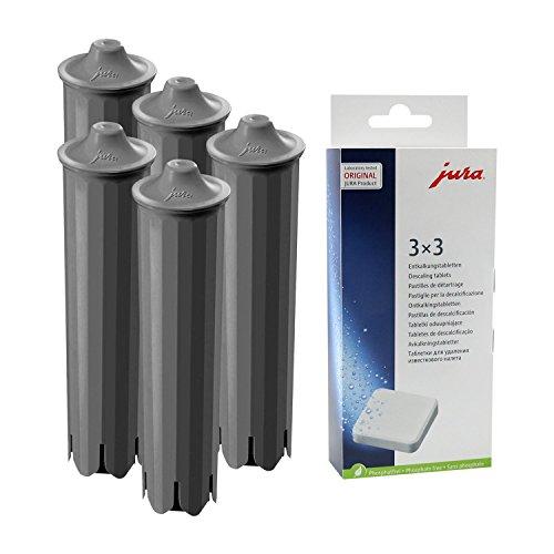 5x JURA CLARIS SMART Filterpatrone + 1x 3er JURA Entkalkungstabletten