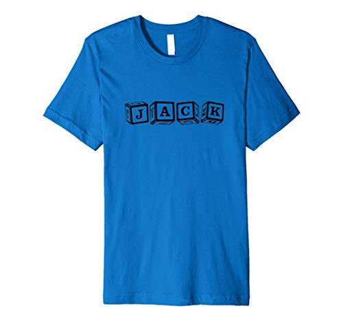 Jack T Shirt For Boys & Babies Named Jack , Baby Blocks