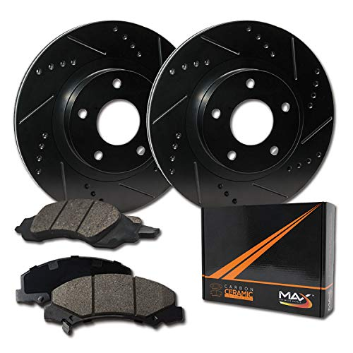 [Front] Max Brakes Elite XDS Rotors with Carbon Ceramic Pads KT031681