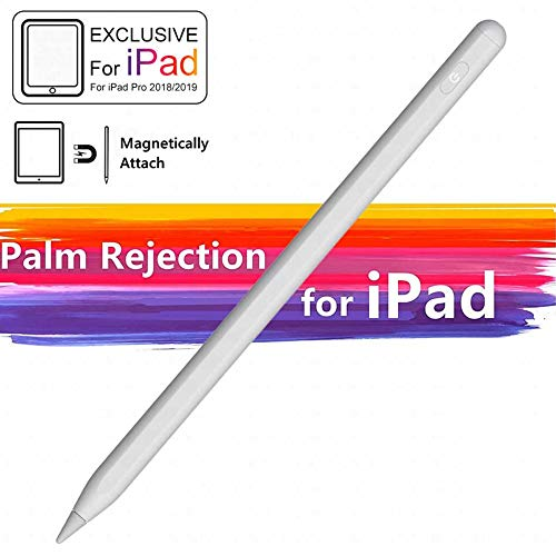 Magnetic Stylus Pen for Ipad Pencil, Hight Sensitive Fiber Tip with Pam Rejection for Apple Touch Screen Rechargeable Active Pencil