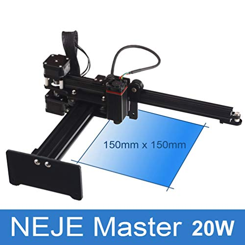 NEJE Master 20W Mini Engraver Engraving Marking Machine Router Cutter (Nero)