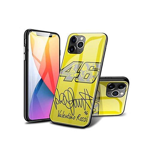 SviXXaYN iPhone 12 Pro MAX Funda, Parte Trasera de Cristal Templado + Funda Protectora de TPU de Silicona Suave, Compatible con iPhone 12 Pro MAX #001(C)