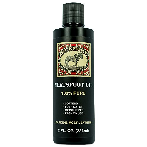 Bickmore 100% Pure Neatsfoot Oil 8 oz - Leather Conditioner and Wood Finish - Works Great on Leather Boots, Shoes, Baseball Gloves, Saddles, Harnesses & Other Horse Tack